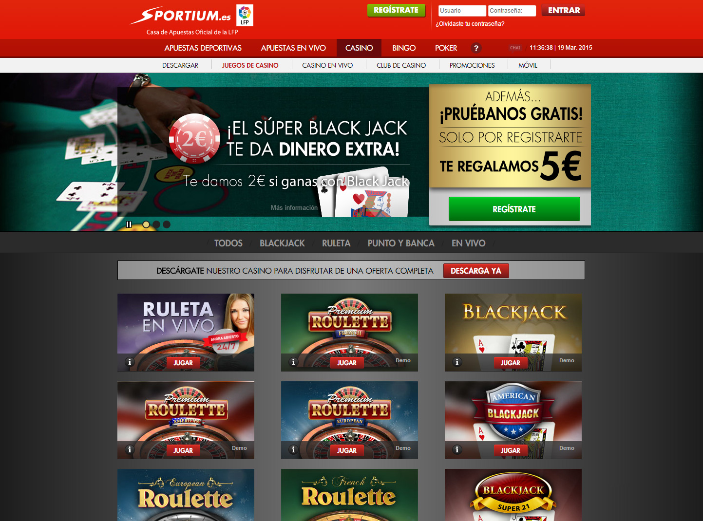 Juega Blackjack en Vivo Online en Casino.com Chile